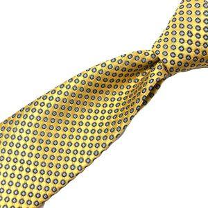 JOS. A. BANK Men's Tie Geometric Yellow 100% Silk